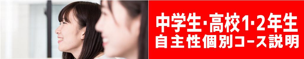 中学生・高校1・2年生個別集中コース